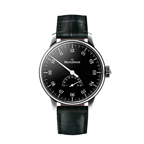 MeisterSinger Men's Automatic Watch UM207UNOMATIK Quandrante Steel Black Leather Strap