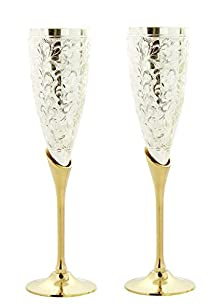 Ojas Silver Plated Wine Glass Set