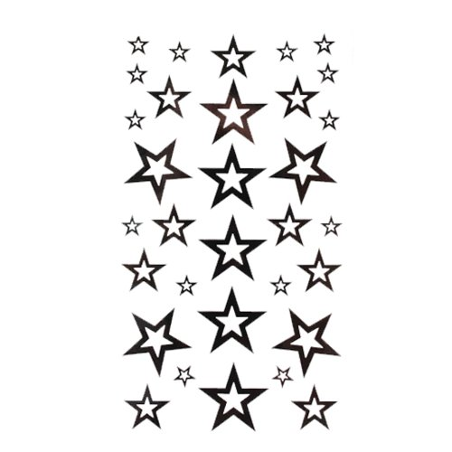 King horse tattoo sticker fashion sexy black five-pointed star totem