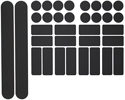 Lack-rahmen (Finest Folia 34 Teiliges Fahrrad Rahmen Schutzfolie Folie Aufkleber Schutz MTB BMX Kette Lackschutzfolie (Matt Schwarz))
