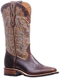 Botas americanas–Botas cowboy bo-5181-c (pie normal)–Mujer–Piel–Marrón