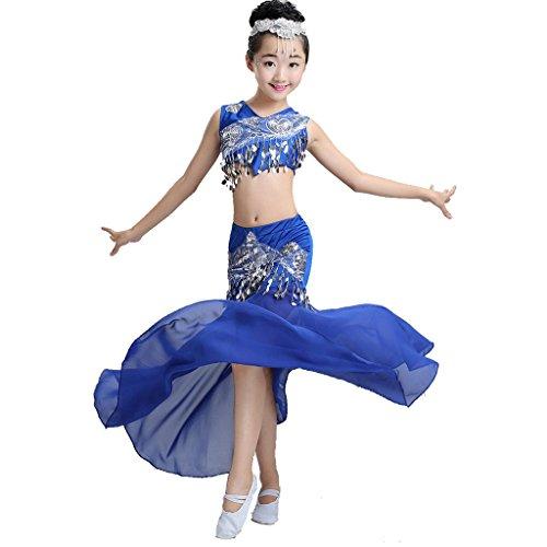 uch Tanz Performance Kostüm Mädchen Fischschwanz Rock Klassische Sequins Mädchen Tragen Kinder Bühnen Studenten Chor Gruppe Team . 6# . 100Cm (Top-100-gruppe Halloween-kostüme)