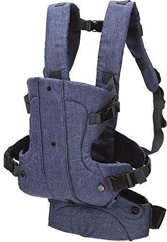 Fillikid Babytrage Kindertrage Vario Top | ergonomische Bauchtrage & Rückentrage | 4 Tragemöglichkeiten | für Neugeborene & Kleinkinder von 3 bis 24 Monate (3,5-14,5 kg), Design:blau