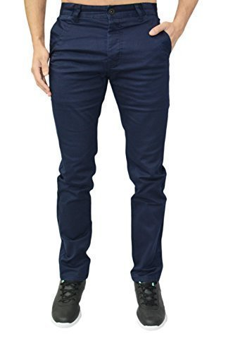Homme Design Eto Jeans Slim Fuseau Pantalon Chino Pantalon 4 Couleurs Bleu - Bleu marine