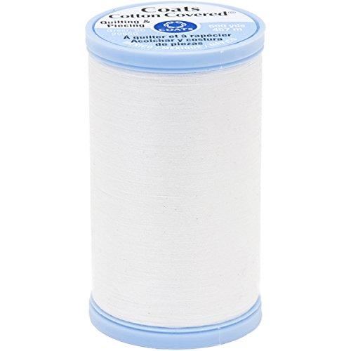 Unbekannt Mäntel Baumwolle bedeckte Wattierung und Ansetzfaden, 500-Yard, weiß