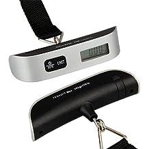 Ecloud Shop Digital Kofferwaage Waage Handwaage Gepäckwaage Thermometer 50kg/50g
