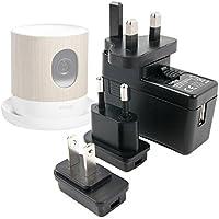 Chargeur secteur USB + Adaptateurs Internationaux pour Withings Home Caméra de Surveillance Wi-Fi avec Suivi de la Qualité de l'Air par DURAGADGET