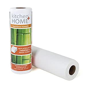 Bamboo Towels - Heavy Duty Machine Washable Reusable Rayon Towels - One roll replaces 6 months of towels!