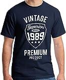 30th Birthday Gifts Cadeaux Anniversaire 30 Ans - Vintage Premium 1989 - T-Shirt Homme