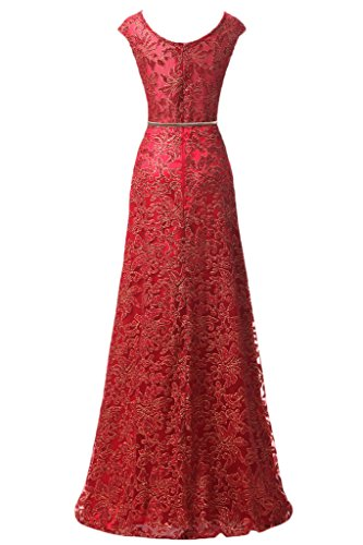 ivyd ressing Femme A ligne populaire col en V robe robe ceinture Paillette Party Prom Lave-vaisselle robe robe du soir Rouge