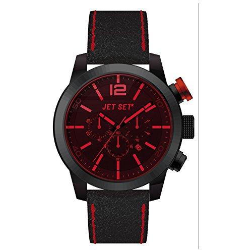 Jet Set uomo cronografo nero/rosso Munich J6510B -367