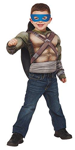 Ninja Turtles–Kostüm Ninja Turtles 2, mit Brust, musculoso -