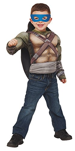 Imagen de tortugas ninja  disfraz tortugas ninja 2, con pecho, musculoso en caja, talla m rubie's spain 31895