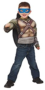 Disfraz de Tortuga Ninja para niños, Pecho musculoso en caja, infantil 5-6 años (Rubie