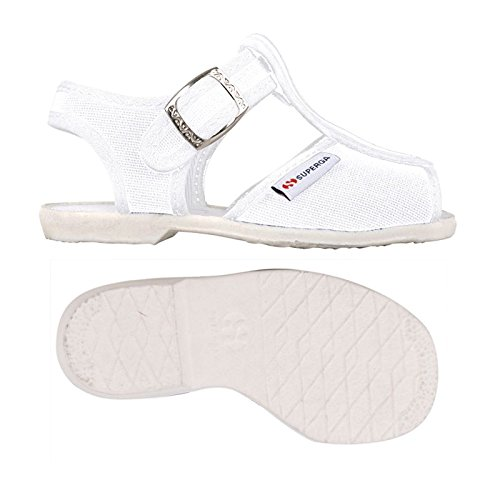 Superga Kinder-Unisex 1200-Cotj Schuhe mit Riemchen, Rosa White