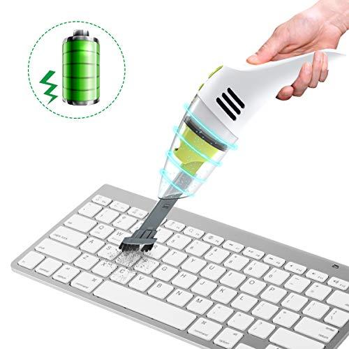 MECO ELEVERDE Mini-Staubsauger Keyboard Cleaner/Tastatur Reinigung mit Akku, Reinigen die Lücke für Keyboard, Laptop, Auto,Tierhaare, Sofa und Andere Möbel Geschenken
