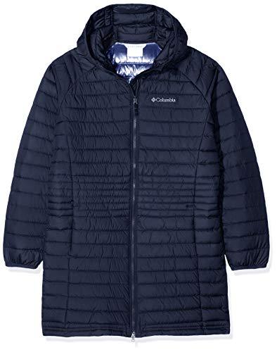 Columbia Mittellange Jacke für Mädchen, Powder Lite Girls Mid Jacket, Polyester, Blau (Nocturnal), Gr. XS, 1810421 Columbia Winter Parka