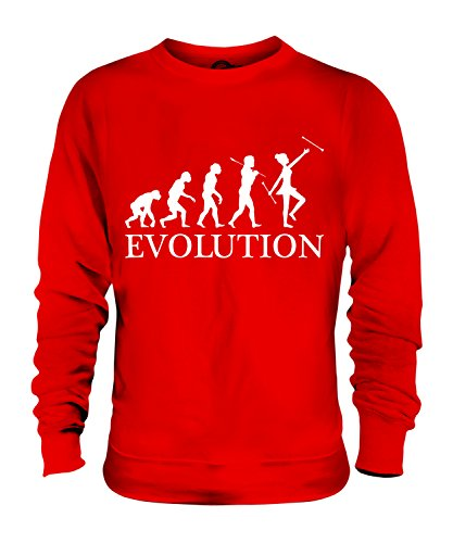 Candymix Baton Twirling Evolution des Menschen Unisex Herren Damen Sweatshirt, Größe X-Small, Farbe - Baton Twirling Kostüm