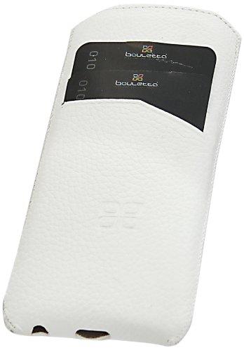 Bouletta OPTIMUM C Antic Coffee Apple iPhone 5S 5 Echt Leder Tasche Etui Hülle Case Handytasche Schutzhülle - Mit extra Aussparungen - Kreditkartenfächer - 100% Passgenau Brush Weiss