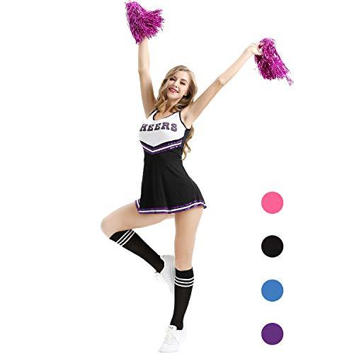College Maskottchen Kostüm - AIZYR Cheerleader-Kostüm, Damen Cheerleader Kostüm Outfit