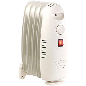 Sichler Haushaltsgeräte Heizkörper: Öl-Radiator-Elektroheizung mit 5 Rippen und Thermostat, 500 Watt (Mini Öl Radiator)