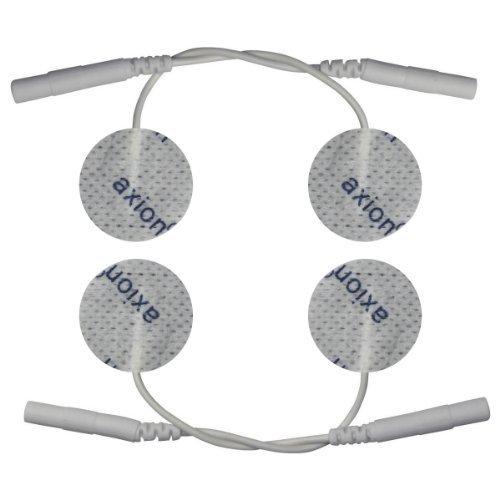 4 x kleine Elektroden Pads, 30mm Durchmesser, rund. Für Anwendungen im Gesicht oder Elektro-Akupunktur. Für TENS EMS Reizstromgerät mit 2mm-Stecker-Anschluss.