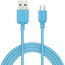 EZOPower EZCB18L - Cable USB 2.0 de carga y datos, 3 m, color azul