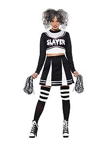 Smiffys 47572XS - Disfraz de animadora gótica para mujer, talla XS, color negro