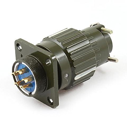 sourcingmap® Imperméable Fiche De L'Aviation 5Pin Mâle Panneau Connecteur Adaptateur AC 250V 1