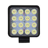 Biback 1 x Auto 48 W Quadratisches Arbeitslicht, LED-Flutlicht, LED-Scheinwerfer für LKW, Auto, ATV, SUV, Jeep