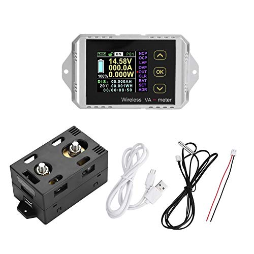 Wireless Voltmeter Farb-LCD-Bildschirm DC Voltage Amperemeter Power Meter Watt Tester(VAT-1100) 01 Multifunktions-farb-display
