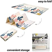 Play Mat 200*180CM Foldable Mat for Children Crawling Mat, Waterproof and Antislip multi pattern for baby, 200