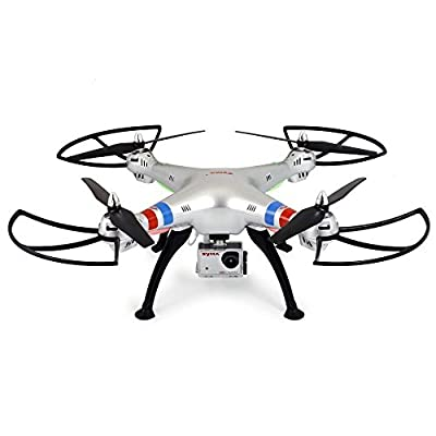 3D Roll RC Quadcopter, Koiiko Syma-X8G Headless Mode Drone RTF Ready-To-Fly R/C Aircraft 6-Axis Gyro Helicopter with HD 8MP 1080P Real Time Aerial Camera and LED Light for Night Flying