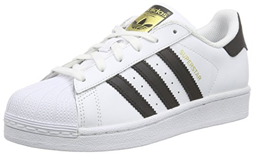 adidas Originals Superstar Foundation, Sneakers bambino, Bianco (Ftwr White/Core Black/Ftwr White), 37 1/3