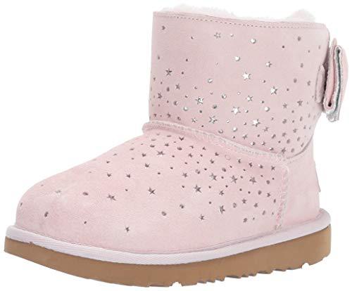 Ugg Kids Classic Boot (UGG Kinderschuhe STARGIRL Classic Mini II Bow Baby pink, Größe:37 EU)