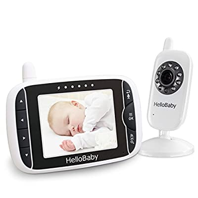 HELLO BABY Wireless Video Baby Monitor with Digital Camera, Night Vision Temperature Monitoring & 2 Way Talkback System, White (HB32)  BATTERY VOLT