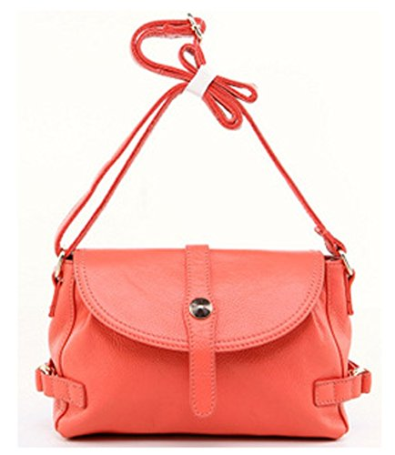 Leder Niedlich Damen Handtaschen, Hobo-Bags, Schultertaschen, Beutel, Beuteltaschen, Trend-Bags, Velours, Veloursleder, Wildleder, Tasche Wassermelone Rot Keshi