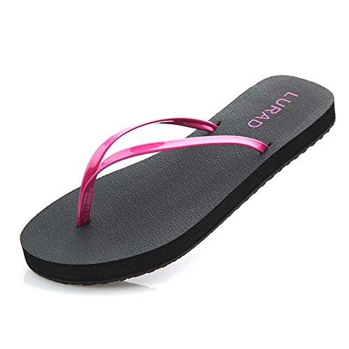 ladies infradito/Pizzico spiaggia sandali e pantofole/Alla moda piatto fondo antiscivolo clip B