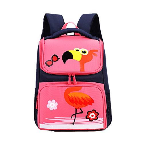 Bom Bom Schulrucksack Jungen Mädchen Schulranzen Kinder Rucksack fur 1-3 Klasse (Rosa)