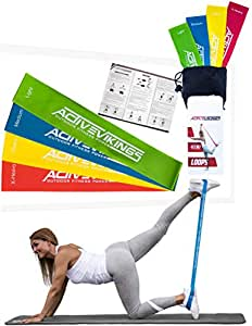 ActiveVikings Fitnessb  nder Set 4St  rken by Ideal f  r Muskelaufbau Physiotherapie Pilates Yoga