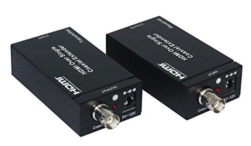 eazy2hd HDMI Verlängerung über Single RG6Koax Kabel bis zu 100m/328ft Unterstützung IR-Fernbedienung, UK-Stecker Rg6 Audio