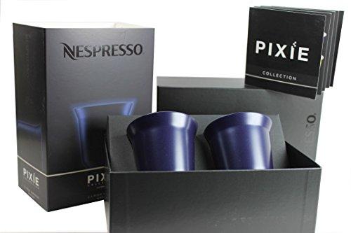 Nespresso Pixie Espresso Kazaar Metall Becher Tasse - blauschwarz