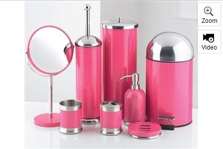 pale pink bathroom accessories.  8 Piece Bathroom Accessories Set Pink Amazon co uk Kitchen Home