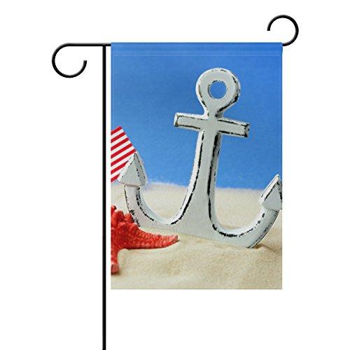 COOSUN Anchor Polyester Garten-Flagge im Flagge Home Party Garten Decor, doppelseitig, 30,5x 45,7cm (30,48x 45,72cm), Polyester, mehrfarbig, 12x18(in)
