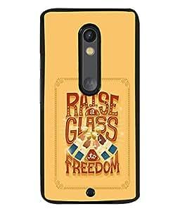 FUSON Designer Back Case Cover for Motorola Moto X Play (Illustration Inspiration Change Motivate )