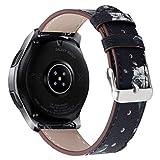 ❄TianranRT❄Cinturino per cinturino in pelle di lusso di ricambio per orologio Samsung 46mm(Grigio)