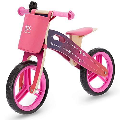 Kinderkraft RUNNER, Bicicleta Sin Pedales, 3 Años y Más, Ligera, Ajustable, Rosa
