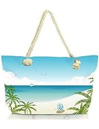 Snoogg Beach Side View Women Anchor Messenger Handbag Shoulder Bag Lady Tote Beach Bags Blue