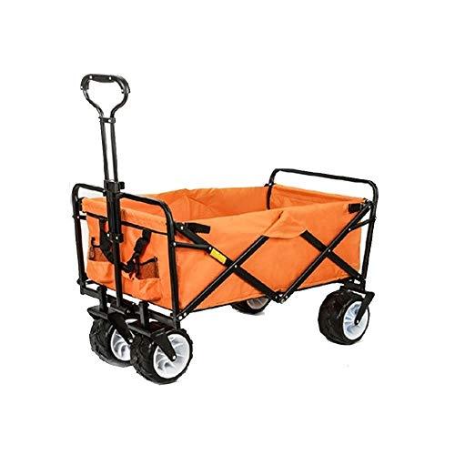 ZCF YUEX Rollwagen Outdoor Folding Car Wagon Folding Warenkorb Warenkorb Falten Heavy Utility Vehicle 73 * 48,5 * 90 cm / 28 * 19 * 35in (gelb)