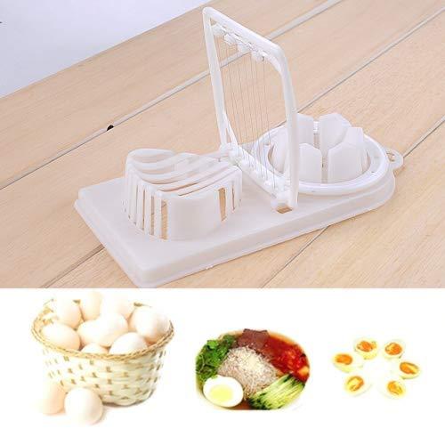 2in 1robusta plastica uova sode affettatrice, uova sode cutter kitchen chopper by hinmay